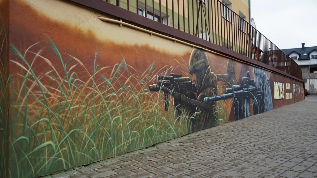 Zołnierze na poligonie, malowidło