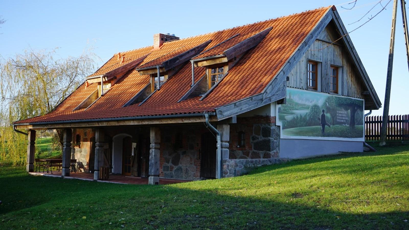 Muralik w Muzeum Michała Kajki w Ogródki