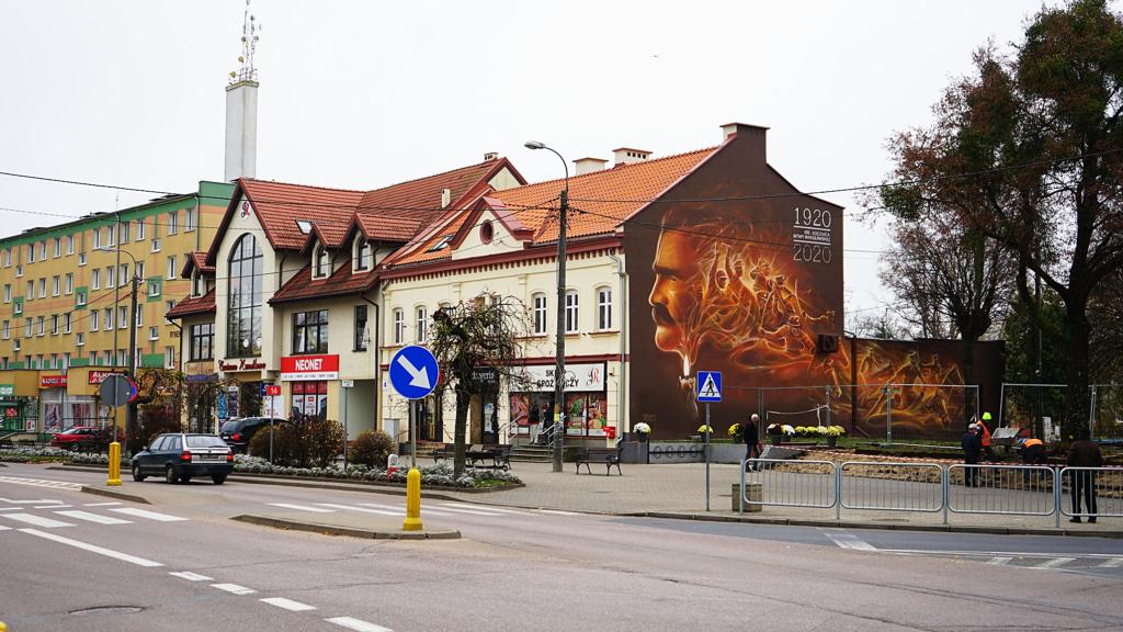 Mural historyczny w Orzyszu