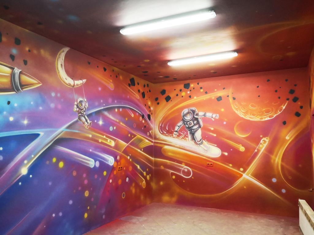 sala urodzinowa kosmiczna