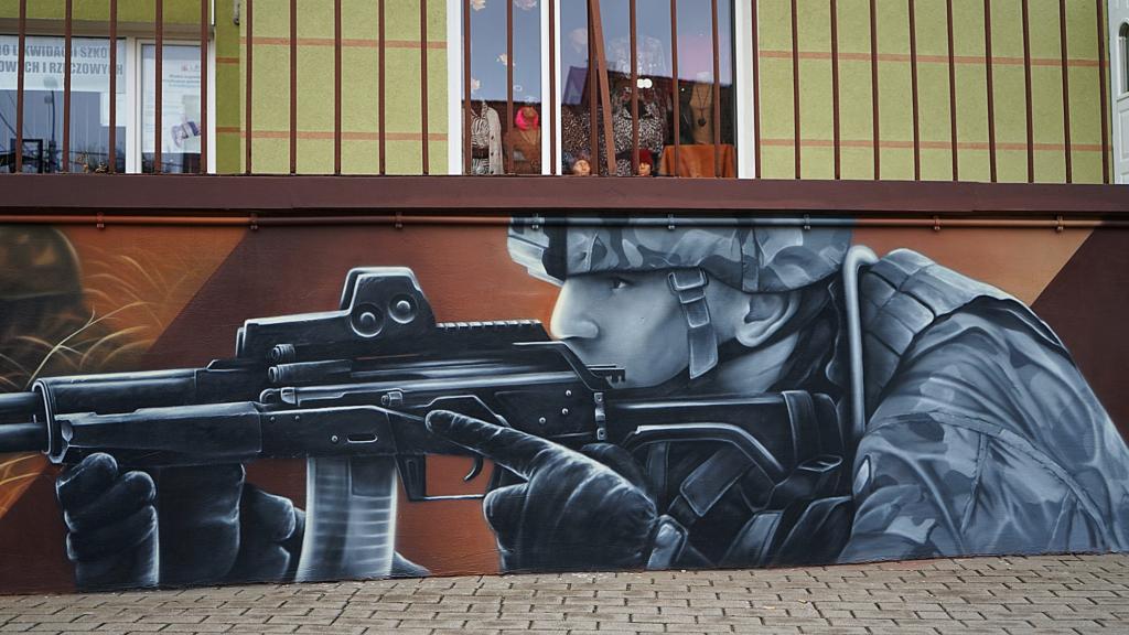 muralik wojskowy,